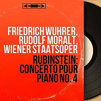 Rubinstein: Concerto pour piano No. 4 (Mono Version)