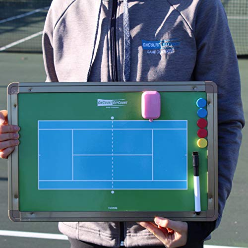 Oncourt Offcourt Magnetic and Dry Erase Tennis Coach's Board - Comes with Dry-Erase Pen and Magnetic Dots