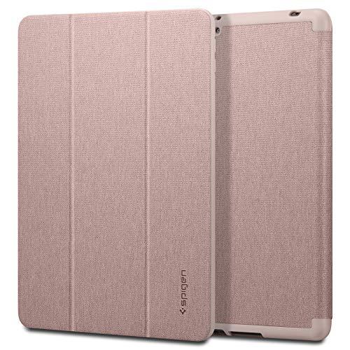 Spigen Urban Fit Kompatibel mit iPad 10.2, iPad 8. Generation Hülle (2020) / iPad 7. Generation Hülle (2019) mit Auto Schlaf Wach Funktion - Rose Gold