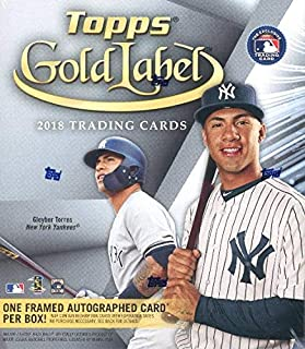 aa2627f474d 2018 Topps Gold Label Baseball Factory Sealed HOBBY Box with FRAMED  AUTOGRAPH Card   4 Parallels
