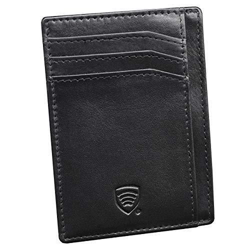 KORUMA ID PROTECTION RFID Protezione antifurto RFID Carte Portafoglio Sottile in Vera Pelle (B3)