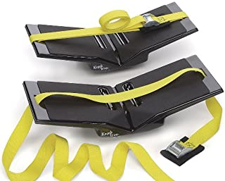 The Kayak Wing - Sea Kayak Rack with Yellow Straps for Boats Under 30