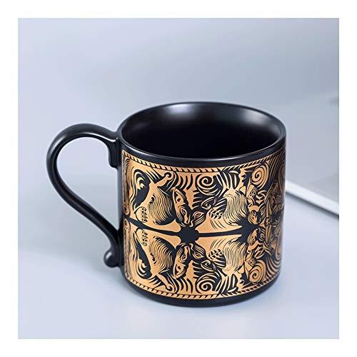 JISHIYU Tazas chinas tradicionales de té nostálgico, medianas de porcelana, taza de café, taza de viaje, taza de cerveza, cumpleaños, día del padre, Navidad, regalo de boda (obra de arte)