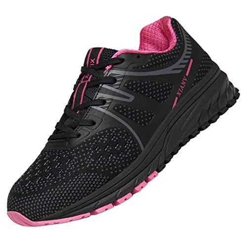 DUORO Sportschuhe Herren Laufschuhe Damen Turnschuhe Leichte Sneaker Joggingschuhe (Schwarz-pink-193, Numeric_40)