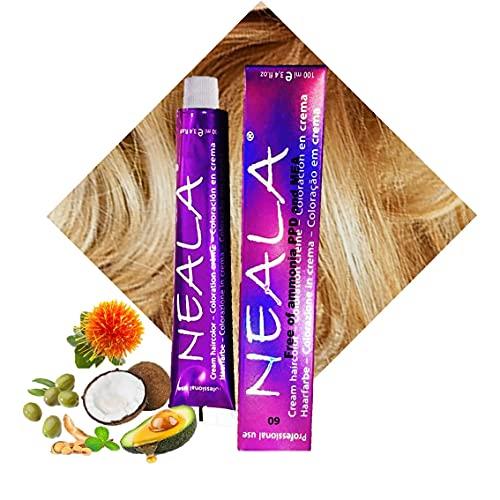 N-9 - Tinte Profesional Permanente Vegano SIN AMONIACO, libre de PPD Y MEA Gran brillo y cobertura- 09- Rubio Muy Claro Natural - NEALA 100ml.