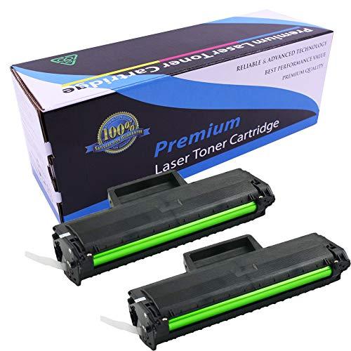 Cartucho de tóner compatible MLT-D104S MLT-D104 D104S 104 compatible con Samsung ML-1660 ML-1667 ML-1665 ML-1675 ML-1865 SCX-3200 SCX-3205W SCX-3207, 2 unidades, color negro