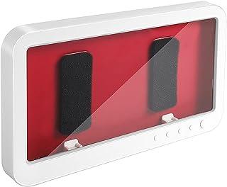 PAMISO 壁掛けスマホケース 風呂スマホスタンド 浴室防水ケース バスラック 携帯ホルダー 防水携帯ケース トイレラック キッチンスマホンスタンド (white)