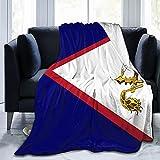 Flanelldecke mit Flagge von Amerikanischen Samoa, flauschig, bequem, warm, leicht, weich, Überwurf für Sofa, Couch, Schlafzimmer