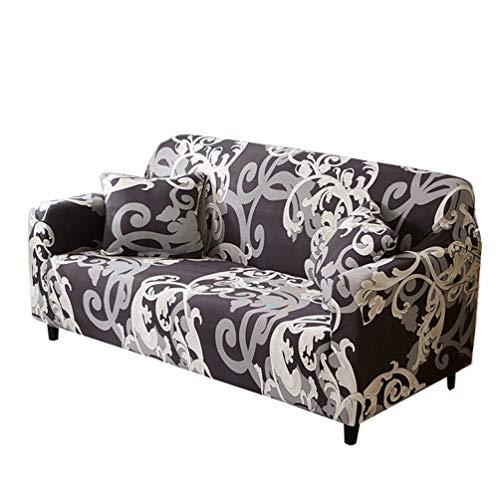 WanYangg Funda de cojín antideslizante lavable fundas de sofá de fácil ajuste universal elástico impresión sofá funda de poliéster spandex funda protectora W Set3 2 plazas: 145 – 185 cm