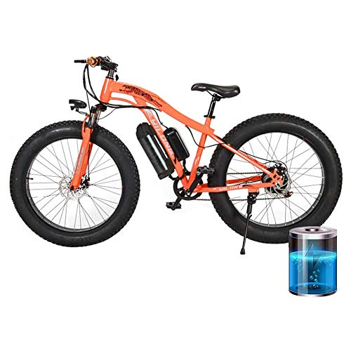 Lowest Price! RXRENXIA 26 Electric Mountain Bike Foldable Adult Double Disc Brake and Full Suspensi...