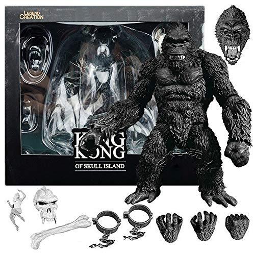 dqwer 18Cm Movie Anime Figure King Kong: Skull Island Orangutan Modello Decorazione Accessori Comuni in Piedi Action Figure Giocattoli Scatola di Colori Regali Gift