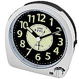 Ruhla QW 859-4SP - Reloj despertador analógico de cuarzo con control de volumen