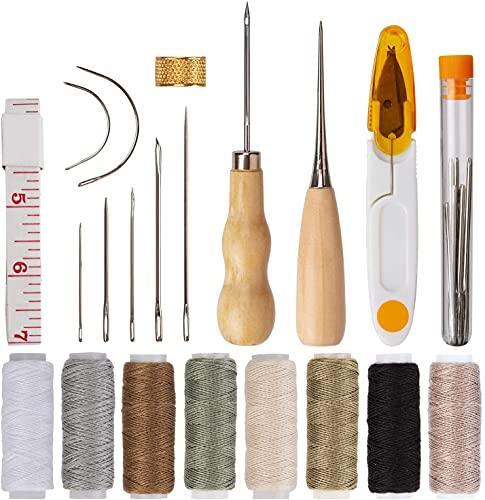 AIEX 29 Cuero Artesanía de Cuero Kit de Costura Manual de Bricolaje con Agujas...
