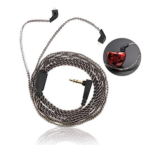 Cable para Auriculares, Cable de Audio Desmontable de Cobre Puro de 2 Pines para Auriculares KZ ZST ED12 ES3 ZSR
