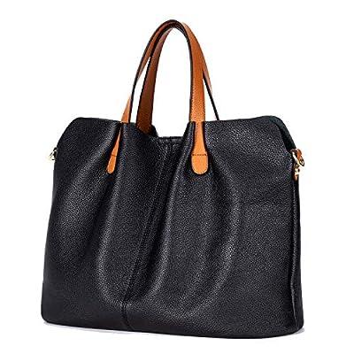 Amazon - Save 60%: GIONAR Leather Purse Handbag Women RFID Black Zipper Tote Brown…