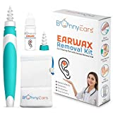 Bonny Ears Ear Wax Removal Kit – Earwax Removal Tools with Spiral Head, Extra Head, Herbal Earwax Removal Aid and Mesh Pouch – Safe and Painless Ear Cleaning Kit – Ideal for Kids and Adults