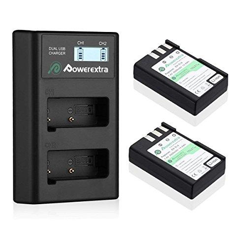 Powerextra EN-EL92Unidades 2000mAh Li-Ion Batería de Repuesto y Cargador para Nikon D40D40X D60D3000D5000Cámaras con Cargador de Coche