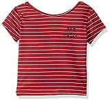 Roxy Girls' Big Baby Tee, deep Claret Belem Stripes, 10