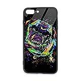 レインボー パグ Apple IPhone 7Plus/8Plus 携帯ケース アイホン7Plus スマホケース Iphone8Pl……