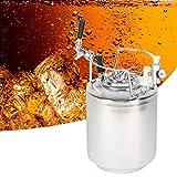 Oyunngs Sistema de Barril de Cerveza de 10L, Conjunto de Conector de Cargador de CO2 de Barril de Cerveza de Acero Inoxidable 304, para Cerveza Artesanal, Cerveza de Barril y Cerveza Artesanal