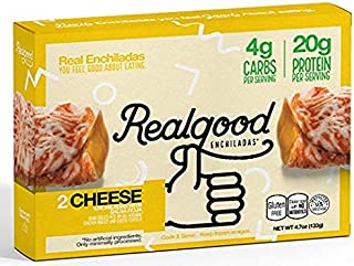 Real Good Foods, Low Carb - High Protein - Gluten Free - Enchiladas, Cheese with Salsa Roja (6 Count)