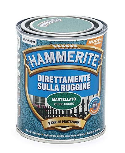 Hammerite Direttamente Sulla Ruggine Martellato Verde Scuro 0.75 L