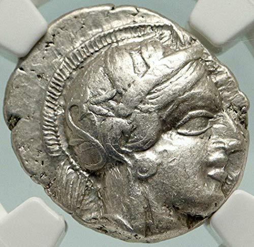 1000 GR ATHENS Greece AR Greek TETRADRACHM Coin Athena FU Tetradrachm Ch VF NGC