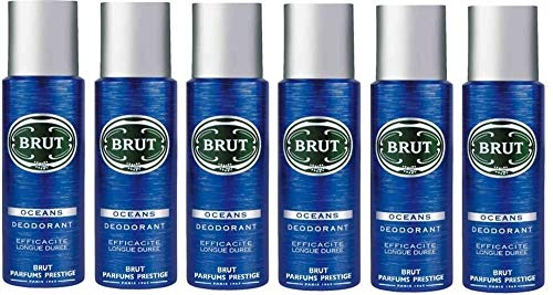 6 x Brut OCEANS Deodorant / Bodyspray (6 x 200ml)