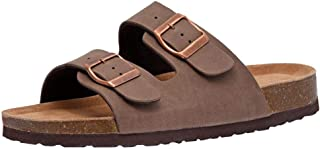 CUSHIONAIRE Women's Lane Cork Footbed Sandal with +Comfort