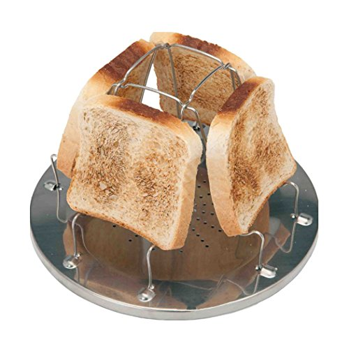 Sipliv RVS toast rek camping fornuis broodrooster sandwich toast rek voor outdoor-camping outdoor-activiteiten opvouwbaar toast rek