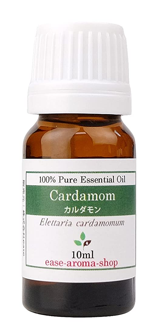 茎買い手うねるease アロマオイル エッセンシャルオイル オーガニック カルダモン 10ml  AEAJ認定精油