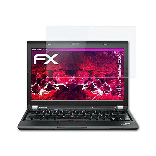 atFolix Glasfolie kompatibel mit Lenovo ThinkPad X230t Panzerfolie, 9H Hybrid-Glass FX Schutzpanzer Folie