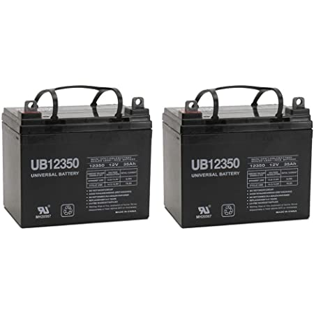 Universal Power Group UB12350 12V 35Ah Pride Victory AGM1234T Scooter Replacement Battery - 2 Pack