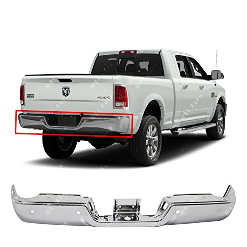 MBI AUTO - Chrome, Steel Rear Bumper Face Bar Shell for 2013-2018 RAM 2500 3500 13-17 W/Park, CH1102379