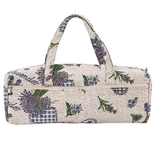 Bolsa de tejer Organizador de hilo Bolsa de almacenamiento de agujas de tejer, Exquisita bolsa de...