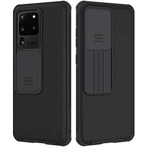 Nillkin CamShield Pro Samsung Galaxy S20 Ultra Hülle, Stylisch Schutzhülle mit Kameraschutz & Anti-Rutsch Stoßfest Kratzfest Technologie Dünn Handyhülle für Samsung S20 Ultra Hülle Schwarz
