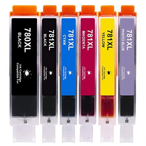 Cartucho de tinta compatible PGI780XL CLI781XL, negro y color para Canon PGI780XL CLI781XL para usar con Canon Pixma TR8570 TS8170 TS9170 TS707 TS8270