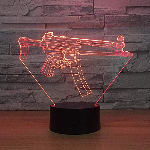 3D Symphony Light LED Nachtlicht Toy Gun 7 Farbwechsel USB-Fernbedienung Touch-Schalter Baby Sleep Desk Lampe Kinder Kreatives Spielzeug Geschenk