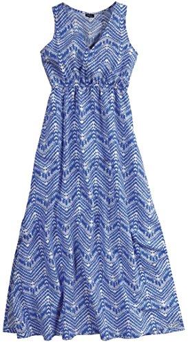 Esmara® Damen Maxikleid (blau/weiß - Gemustert, S - 36/38)