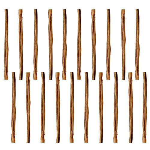 Mini 5 Straight Bully Sticks for Small Dogs & Puppies (20 Pack) Natural Thin Dental Treats for Toy Breeds, Miniature Beef Best Low Odor Pizzle Stix Chew [5 Thin Sticks (20 Pack)]
