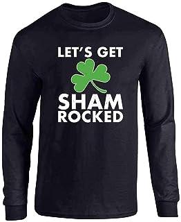 St Patricks Day Shirt Funny Green Shamrock Irish Full Long Sleeve Tee T-Shirt