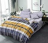 Livmoda 350TC Microfiber Glace Cotton AC Comforter Set King Size Double Bed