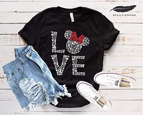 Disney Love Shirts for Women, Mickey Minnie Mouse Rose Gold, Disneyland Trip Birthday Outfits, Cute T-Shirts