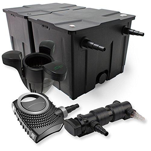 SunSun 2-Kammer Filter Set 60000l 24W UVC 6er Teich Klärer NEO8000 70W Pumpe Skimmer