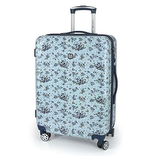 Gabol - Betsy | Maletas de Viaje Medianas Duras de 44 x 64 x 25 cm con Capacidad para 55 L de Estampado Azul
