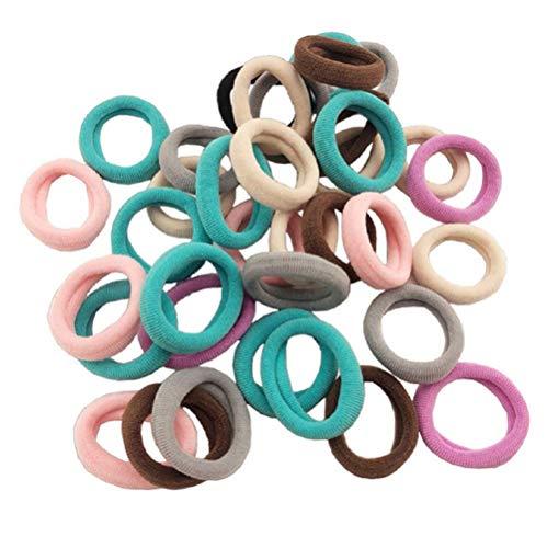 Uhat Lot de 1 mini bandeaux de cheveux pour enfants avec élastiques multicolores pour queue de cheval