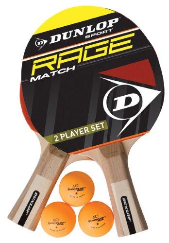 Dunlop AC Rage Match Set of 2 Table Tennis Bats