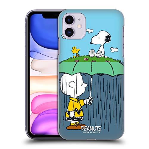 Head Case Designs Licenza Ufficiale Peanuts Charlie, Snoppy & Woodstock metà E Risate Cover Dura per Parte Posteriore Compatibile con Apple iPhone 11