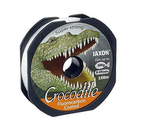 Jaxon Hilo de pesca Crocodile FLUOROCARBON revestido, 2 x 150 m, bobina monofilamento (150 m 0,35 mm 20 kg)