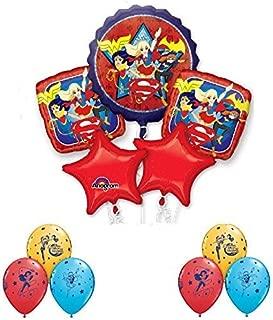 DC Super Hero Girls 11 Piece Bouquet Of Balloons